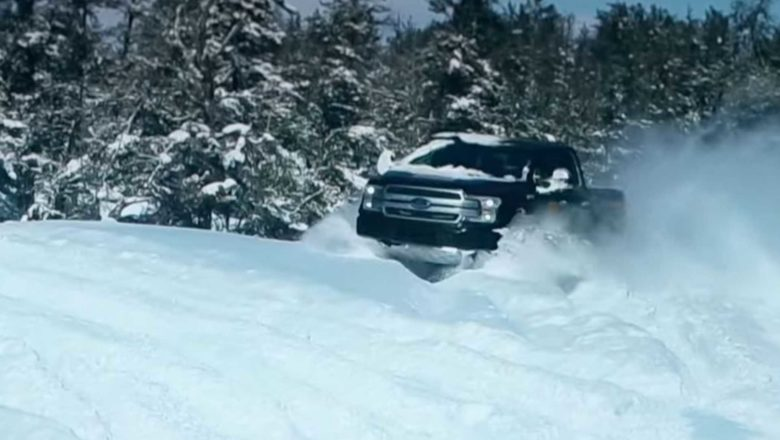Ford releases amazing video of F-150 electric pickup model in the snow