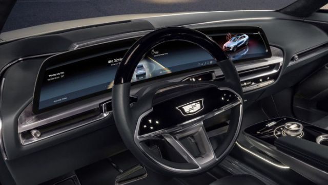 The Cadillac Lyriq offers a glimpse into the EV's 33-inch display