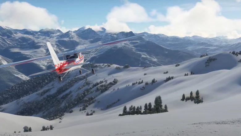 Microsoft Flight Simulator's ongoing snow looks magical